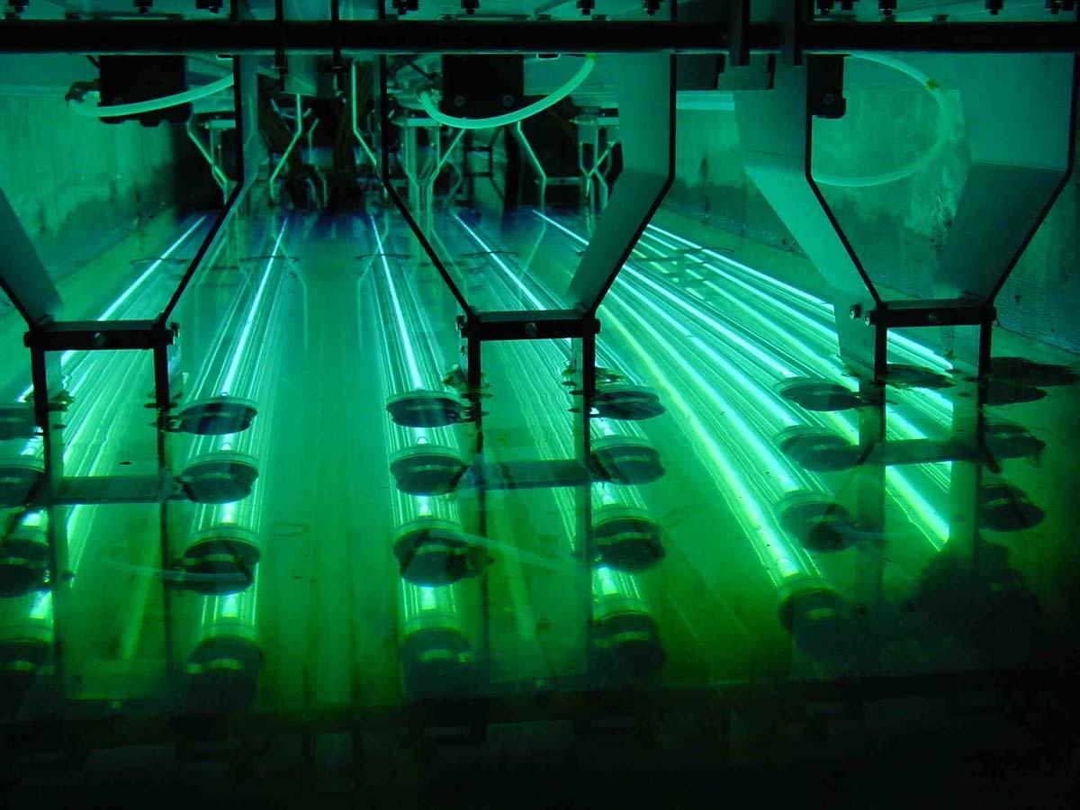 Ультрафиолетовое облучение очищенной воды